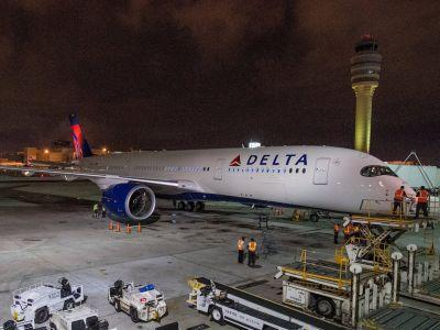 Delta's replacement for the jumbo jet has arrived