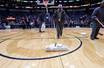 Leaky roof delays start of Pelicans - Pacers game