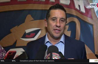 Panthers coach Bob Boughner shares his thoughts on comeback victory over Devils