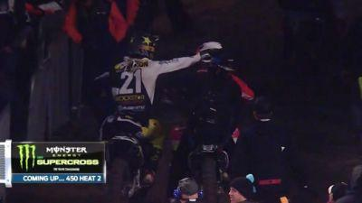 Watch Two Supercross Riders With No Chill Shove It Out After A Crash