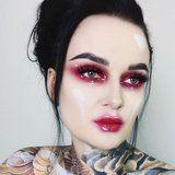 This Jaw-Dropping, Glossy Vampire Barbie Look Was Made With Drugstore Liner