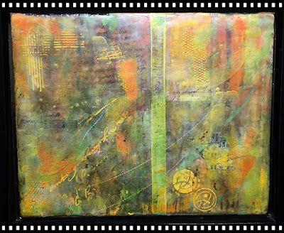 """Encaustic Abstract Art, Mixed Media, Contemporary Painting, """"Just Sayin"""" by Texas Contemporary Artist Sharon Whisnand"""