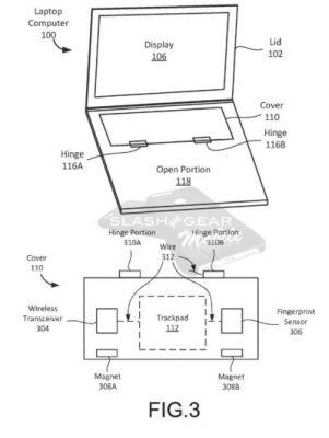 Google Patents A Notebook Computer With Two Foldable Parts