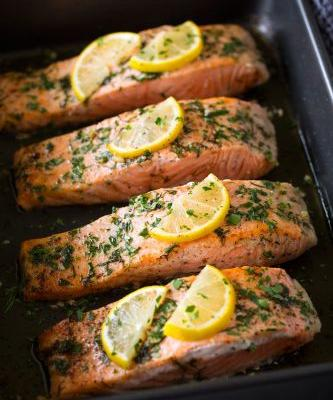 Salmon Roasted in Butter {Super Easy Recipe}