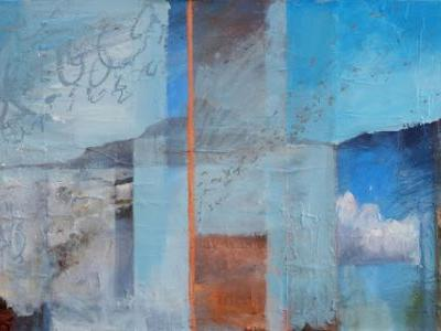 'the day was filled with insight' contemporary landscape painting by dawn chandler