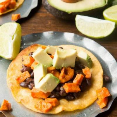 Vegetarian Sweet Potato Tostadas