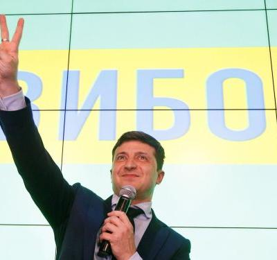 A Ukranian comedian just won the presidential election, according to exit polls. Some are concerned about his lack of experience or firm policy positions