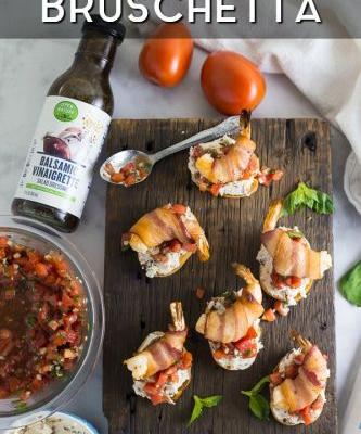 Creamy Bacon Shrimp Bruschetta