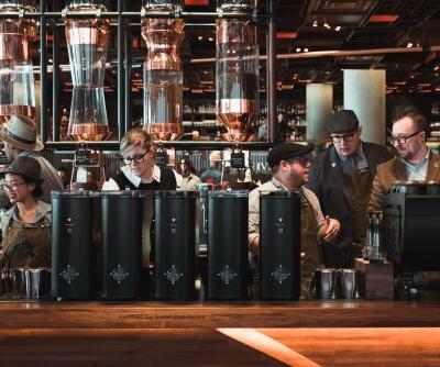 Starbucks just opened a Reserve Roastery in New York that has a full cocktail bar and is almost 13 times the size of the average Starbucks. Here's how it compares to a typical Starbucks