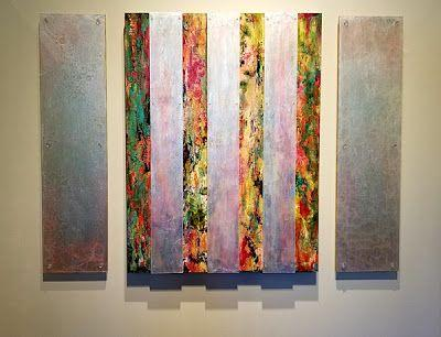 "Mixed Media Abstract Painting ""REALITY DISTORTION FIELD"" by Santa Fe Contemporary Artist Sandra Duran Wilson"