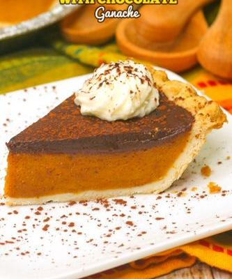 Pumpkin Pie with Chocolate Ganache