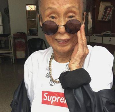 88-year-old Moon Lin has better at rocking streetwear than you'll ever be