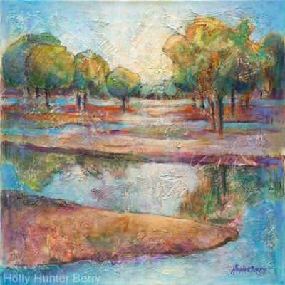 """Contemporary Abstract Landscape, Fine Art PRINT """"IN THE STILLNESS LIES THE TRUTH"""" by Passionate Purposeful Painter Holly Hunter Berry"""