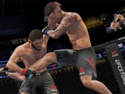UFC 4 career mode interview - coming out of the cage and it's been doing just fine