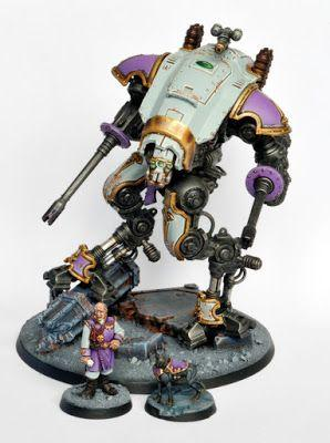 Showcase: Imperial Knights Armiger Helverin with Noble and Dog