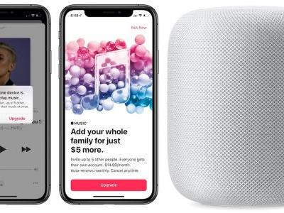 HomePod Now Counts Toward Apple Music Device Streaming Limits for Single Memberships, Apple Encouraging Family Upgrades