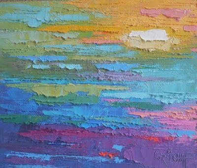 Small Abstract Painting, Summer Colors, Daily Painting, Small Oil Painting, 6x8 Original Abstract SOLD