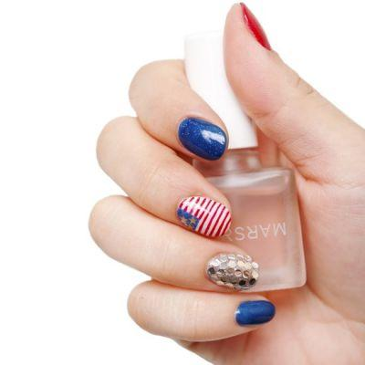 DIY This Festive Fourth of July Nail Art Design