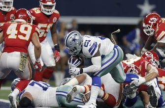 Elliott, Cowboys top improbable Hill TD to beat Chiefs 28-17