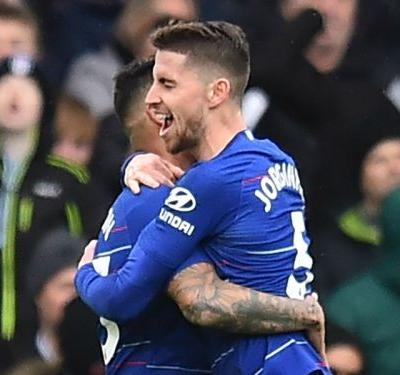 Jorginho fires Chelsea to victory over Fulham