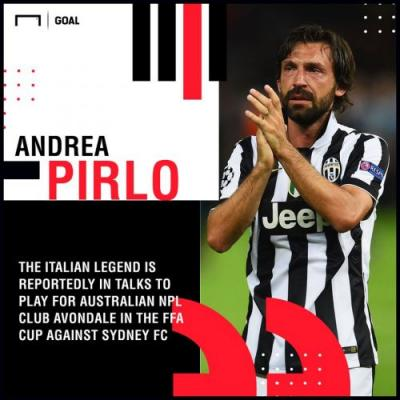 Andrea Pirlo in talks to play for Australian club Avondale - report