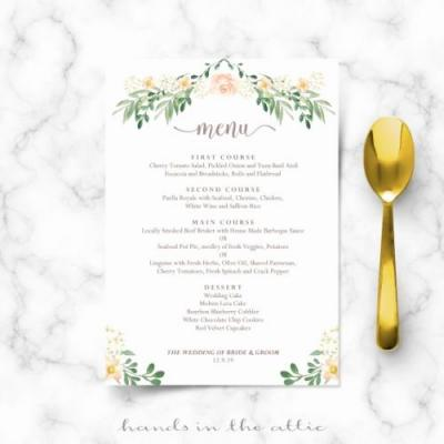 30 Unique Great Gatsby Menu Template Graphics
