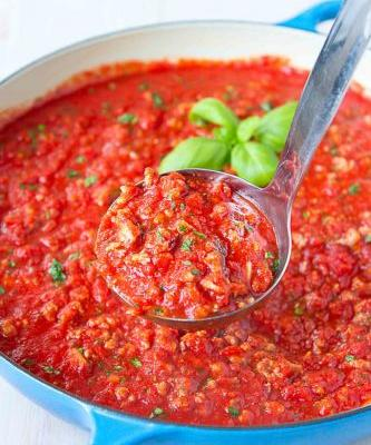 Bolognese Sauce Recipe with Turkey & Chicken Sausage