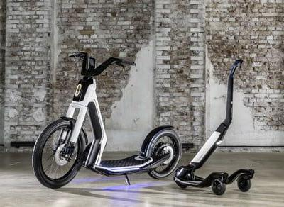 Volkswagen offers a couple of cool scooter designs for zipping around town