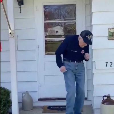 World War II veteran busts a move in quarantine