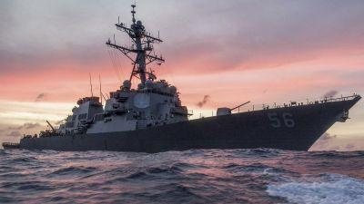 USS John McCain collides with merchant ship; 'search and rescue efforts' underway
