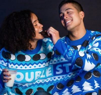 Oreo's Ugly Holiday Sweaters & Gifts For 2019 Include A 2-Person Pullover