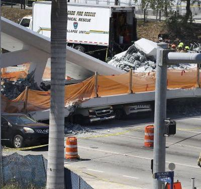 The pedestrian bridge that collapsed in Florida was designed to make students safer