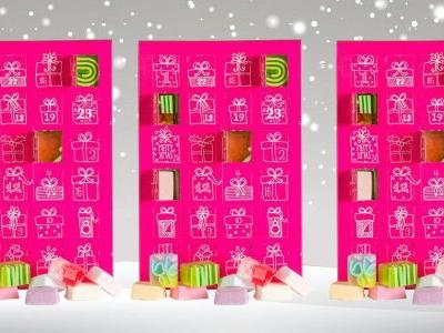 There's a bath bomb advent calendar that'll keep you smelling dreamy all through December