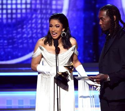Cardi B & Offset's Body Language At The 2019 Grammys Was Confusing, To Say The Least