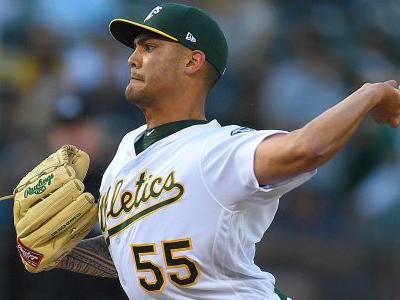 A's pitcher Sean Manaea throws MLB's first no-hitter of 2018 against Red Sox