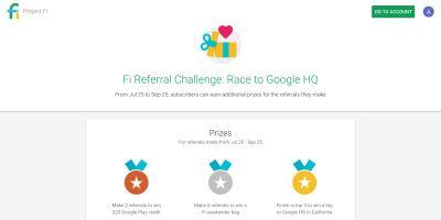 Project Fi launches 'Referral Challenge' w/ credits and Googleplex trip as top prize