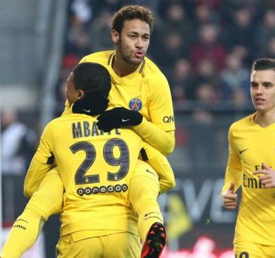 Rennes 1 Paris Saint-Germain 4: Two goals, two assists for Neymar