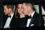 Kate Middleton Is Beaming as She Attends Queen Elizabeth II's Wedding Anniversary Dinner