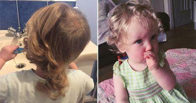 Mum shaves two-year-old daughter's hair in a bid to stop her compulsively pulling it out