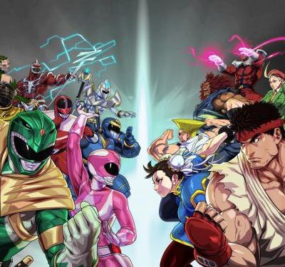 Street Fighter Characters Join Power Rangers Mobile Title