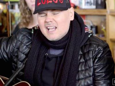 """Watch Billy Corgan Sing The Smashing Pumpkins' """"Tonight, Tonight"""" With A String Section In His Tiny Desk Concert"""