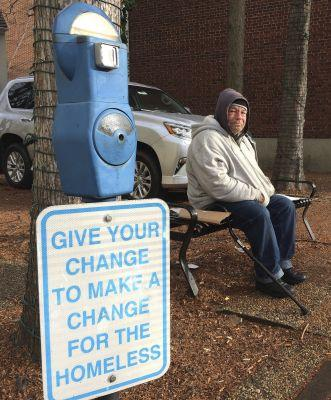 Spare a dime? Cities install meters to combat panhandling
