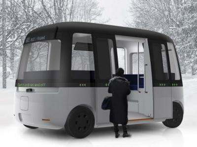 Muji designs an autonomous shuttle bus for the streets of Finland
