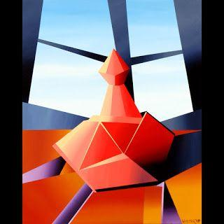 Mark Webster - Abstract Wine Decanter Acrylic Still Life Painting