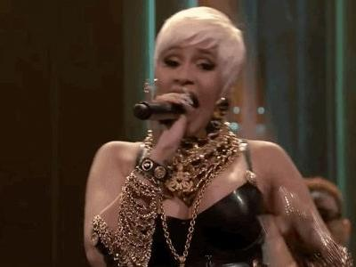 Cardi B Channeled an Iconic '90s Linda Evangelista Look on 'Jimmy Fallon'