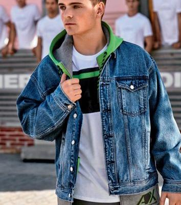 Martin Garrix & Li Yifeng Embrace Sporty Style for Armani Exchange Spring '19 Campaign