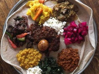 This Ethiopian Meal is a Beautiful Mosaic Meant to be Shared