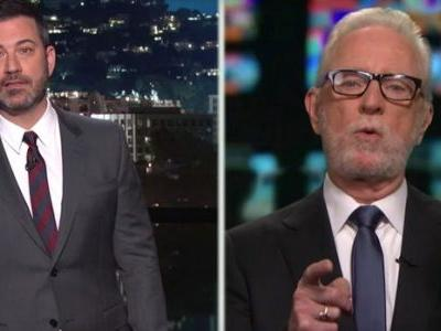 Fake Wolf Blitzer Accepts A Trump Fake News Award From Real Jimmy Kimmel