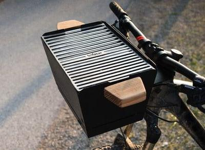 Handlebar-mounted Knister Grill transforms your bike into a rolling barbecue