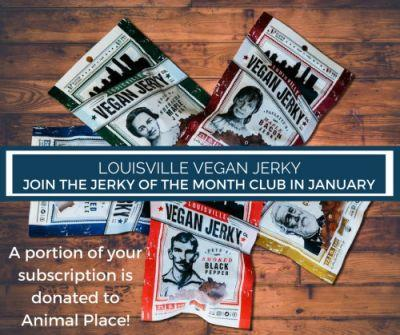 Subscribe to Louisville Vegan Jerky's Jerky of the Month Club